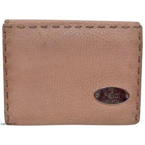 Fendi Pink Selleria Leather Bi-fold w Coin Purse